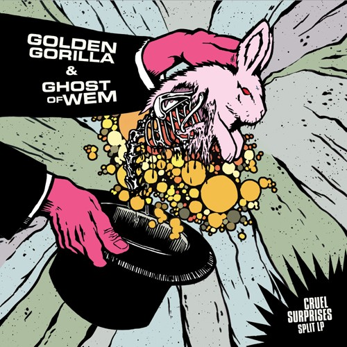 Golden Gorilla / Ghost Of Wem ‎– Cruel Surprises Split LP
