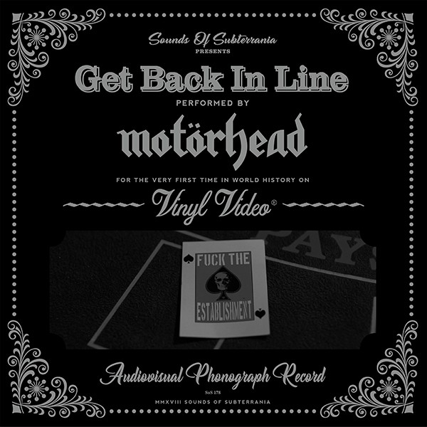 Motörhead – Get Back In Line VinylVideo 7″