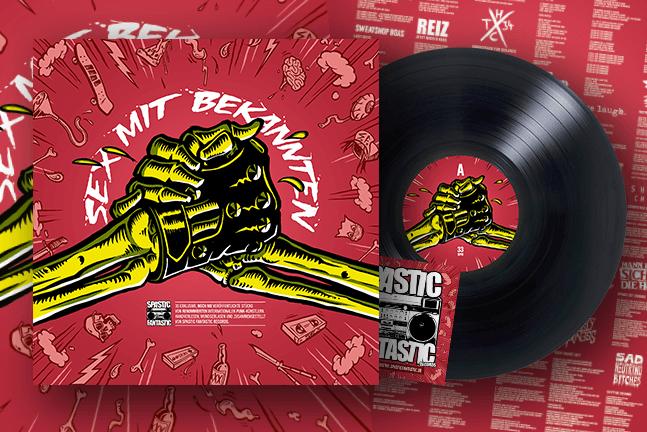 VA - Spastic Fantastic: Sex mit Bekannten LP + Poster + Sticker