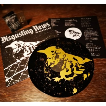 Disgusting News - Fressfeind LP (screenprinted flipside)